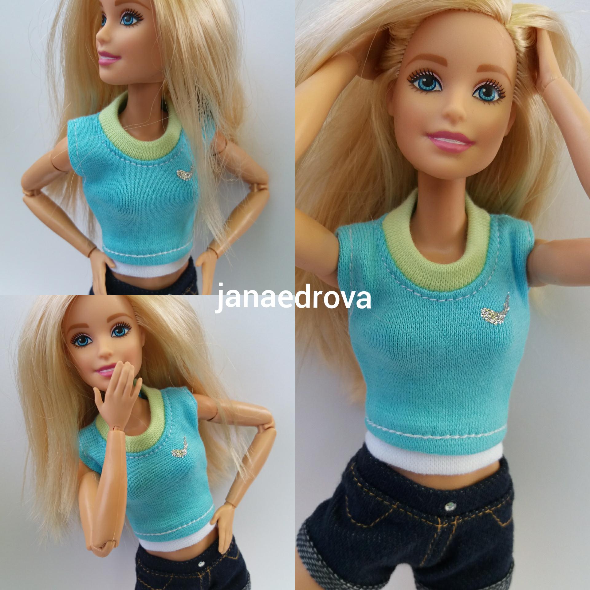 0cd5b6f33f Tričko na Barbie styl Nike