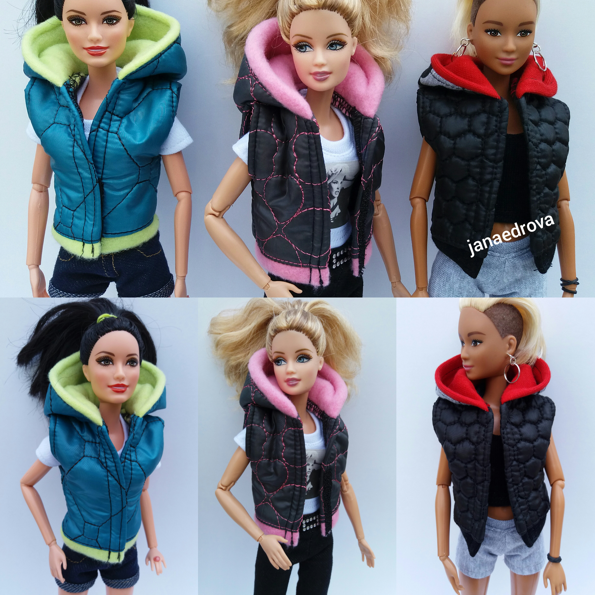 Vesty na Barbie