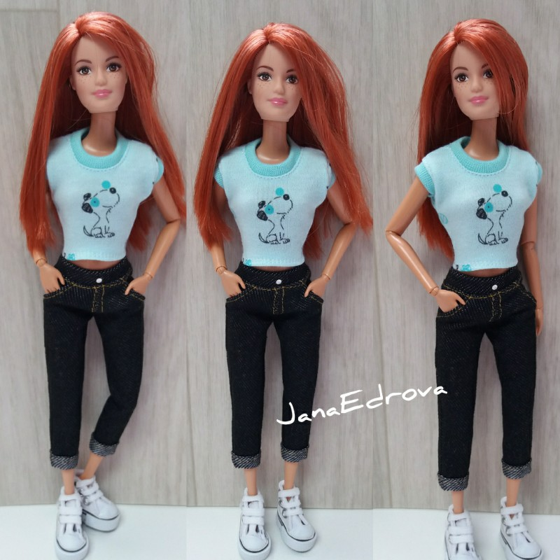 c6d650518f Tričko tyrkysové pro Barbie - SNOOPY